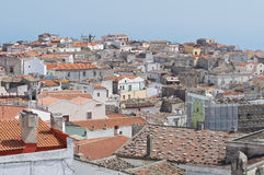 Panoramic view of Monte Sant'Angelo. Puglia. Italy Stock Photography