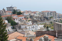 Panoramic view of Monte Sant'Angelo. Puglia. Italy Royalty Free Stock Photos