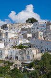 Panoramic view of Monte Sant'Angelo. Puglia. Italy. Stock Photos