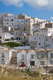 Panoramic view of Monte Sant'Angelo. Puglia. Italy. Stock Photo