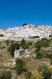 Panoramic view of Monte Sant'Angelo. Puglia. Italy. Royalty Free Stock Image