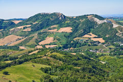 Panoramic view of Montebello. Emilia- Romagna. Italy. Royalty Free Stock Photo