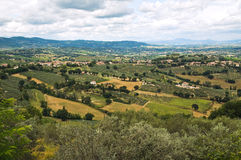 Panoramic view of Montefalco. Umbria. Italy. Stock Photo