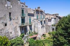 Panoramic view of Montefiascone. Lazio. Italy. Stock Photo