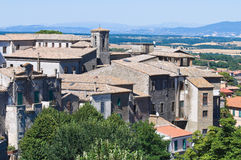 Panoramic view of Montefiascone. Lazio. Italy. Royalty Free Stock Photos