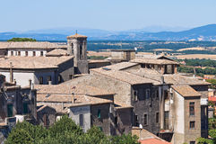 Panoramic view of Montefiascone. Lazio. Italy. Royalty Free Stock Images