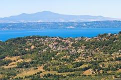 Panoramic view of Montefiascone. Lazio. Italy. stock images