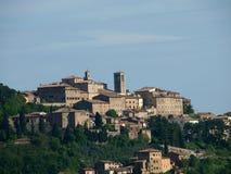 Panoramic View Of Montepulciano Stock Photo