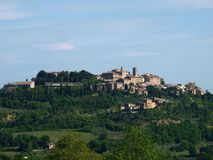 Panoramic View Of Montepulciano Stock Images