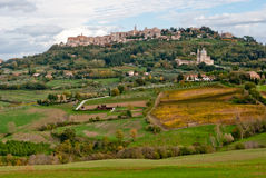 Panoramic view of Montepulciano Royalty Free Stock Photos