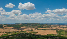 Panoramic view from Montepulciano, Tuscany, Italy Royalty Free Stock Photo