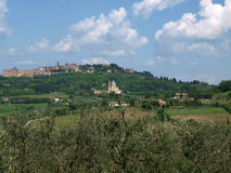 Panoramic View Of Montepulciano Stock Photography