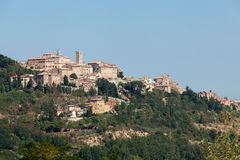 Panoramic View Of Montepulciano Stock Photos