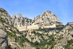 Panoramic view of Montserrat Royalty Free Stock Images