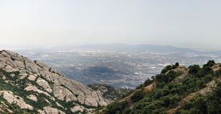 Panoramic view from Montserrat Stock Images