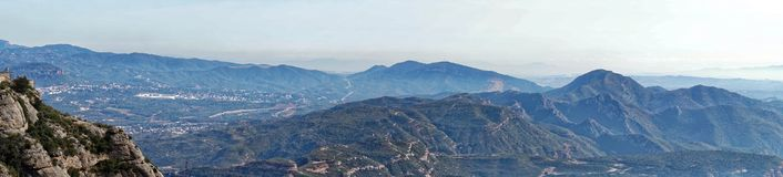 Panoramic view from Montserrat Stock Photography