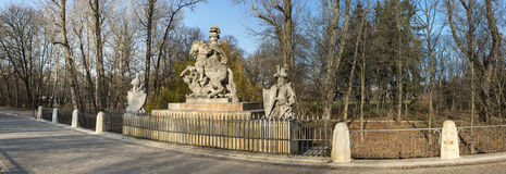 Panoramic view of monument of king Sobieski Royalty Free Stock Photos