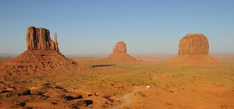 Panoramic View of Monument Valley Stock Photography