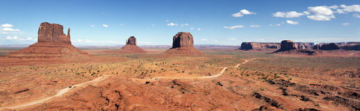 Panoramic view of Monument Valley Royalty Free Stock Images