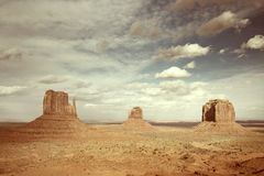 Panoramic view of the monument valley Stock Photos