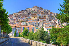 Panoramic view of Morano Calabro. Calabria. Italy. Stock Photography