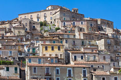 Panoramic view of Morano Calabro. Calabria. Italy. Royalty Free Stock Photos