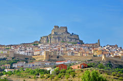 A panoramic view of Morella Stock Image