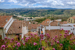 Panoramic view from Morella walls. Royalty Free Stock Photo