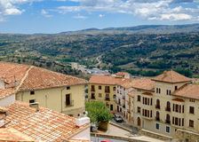Panoramic view from Morella walls. Royalty Free Stock Photography