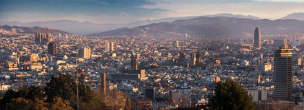 View of picturesque Barcelona cityscape, Spain Stock Image