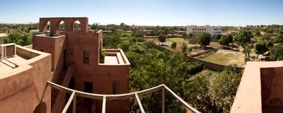 Panoramic view of Moroccan architecture Royalty Free Stock Photography