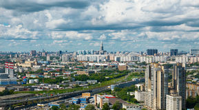 Panoramic view of Moscow city Stock Photography