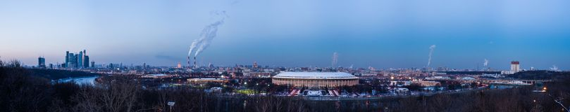Panoramic View Of Moscow City Center From Sparrow Hills Royalty Free Stock Photos