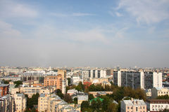 A panoramic view of the moscow city skyline Royalty Free Stock Images