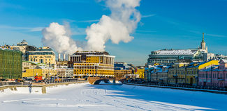 Panoramic view of Moscow city in winter Royalty Free Stock Photo
