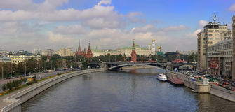 Panoramic view Moscow downtown Royalty Free Stock Photos