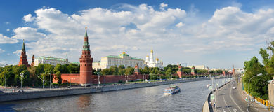 Panoramic view of Moscow Kremlin. Moscow Kremlin residence of the President of Russia Stock Photos