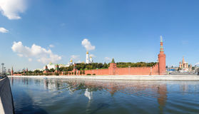 Panoramic view of Moscow Kremlin Royalty Free Stock Image