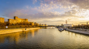 Panoramic view of the Moscow River Royalty Free Stock Image