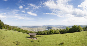 Panoramic view of Mosel Royalty Free Stock Images
