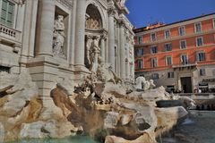 Rome, Italy - Trevi Fountain monument. stock photo