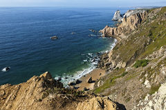 Panoramic view of the most western point of Europe, Cabo da Roca, Portugal. Stock Photo