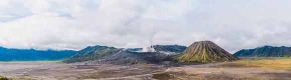 Panoramic view of Mount Bromo Stock Photos