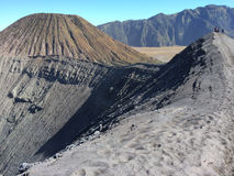 Panoramic view of Mount Bromo Volcano in Central Java, Indonesia Royalty Free Stock Photos
