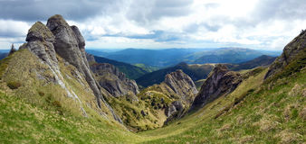 Panoramic view of Mount Ciucas on spring Royalty Free Stock Image