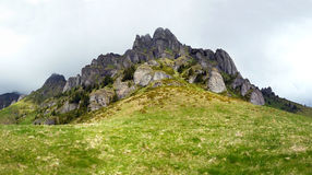 Panoramic view of Mount Ciucas on spring Stock Images