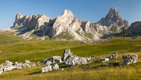 Panoramic view of mount Croda da Lago Royalty Free Stock Image