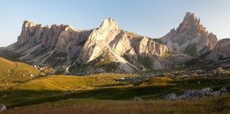 Panoramic view of mount Croda da Lago Stock Image