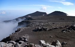 Panoramic view from mount Etna Stock Image
