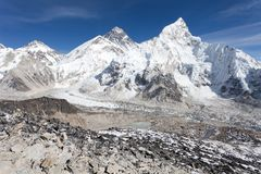 Panoramic view of Mount Everest Stock Photos